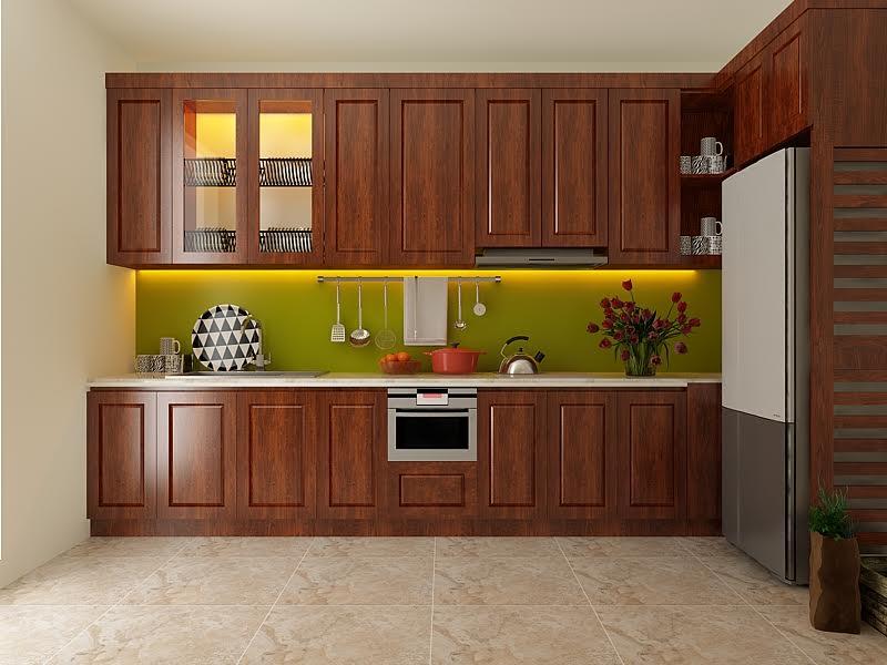 tủ bếp gia đình