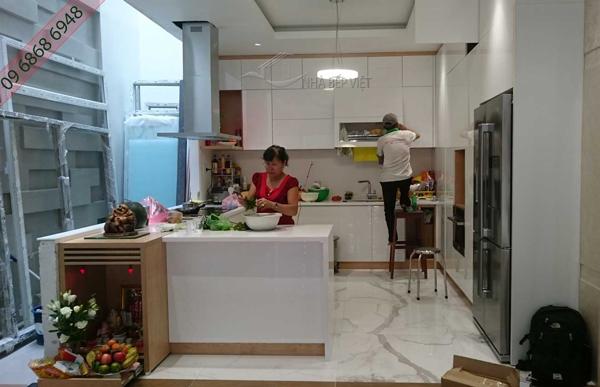 báo giá thi công tủ bếp