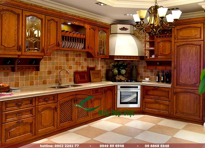 TOP Các mẫu tủ bếp gỗ hình chữ l với thiết kế sang trọng nổi bật
