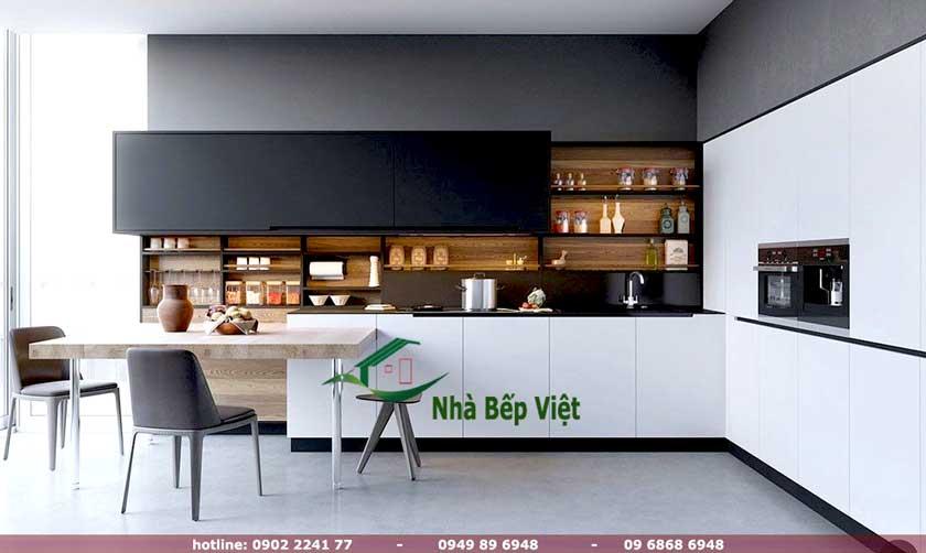 Không gian nội thất hiện đại hơn với các thiết kế tủ bếp hình chữ l này
