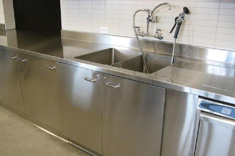 thiết kế tủ bếp inox